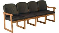 Side & Guest Chairs Wooden Mallet Quadruple Sled Base Sofa