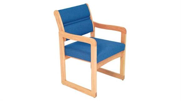 Side & Guest Chairs Wooden Mallet Sled Base Chair with Arms