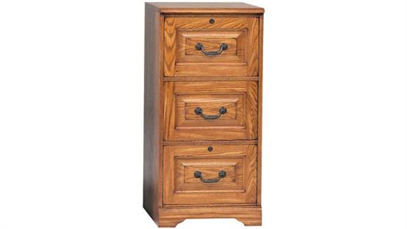 "File Cabinets Vertical Wilshire Furniture 18.5""W x 22""D x 41""H Solid Wood 3 Drawer Vertical File"