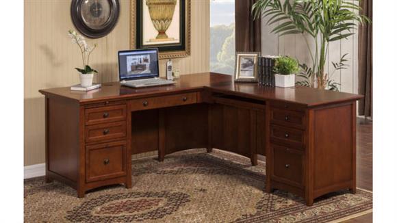 "L Shaped Desks Wilshire Furniture 72""W L-Shaped Executive Desk"