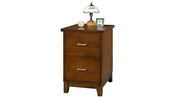"File Cabinets Vertical Wilshire Furniture 17"" W 2-Drawer Vertical File"