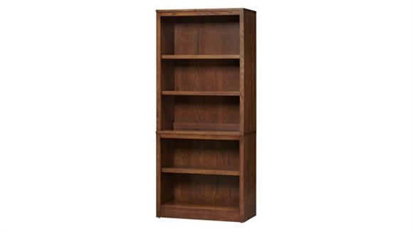 """Bookcases Wilshire Furniture 32"""" W x 72""""H Open Bookcase with Hutch - (2 Pieces)"""
