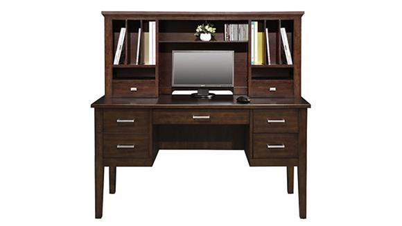 "Computer Desks Wilshire Furniture 54""W Desk with Hutch"