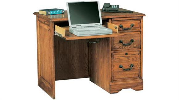 "Compact Desks Wilshire Furniture 36""W x 23""D x 30""H Solid Wood Compact Desk"