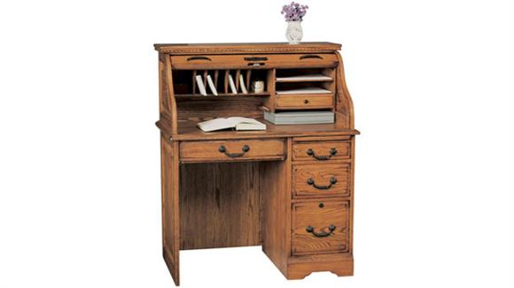 "Roll Top Desks Wilshire Furniture 36""W x 23""D x 46""H Solid Wood Roll Top Desk"