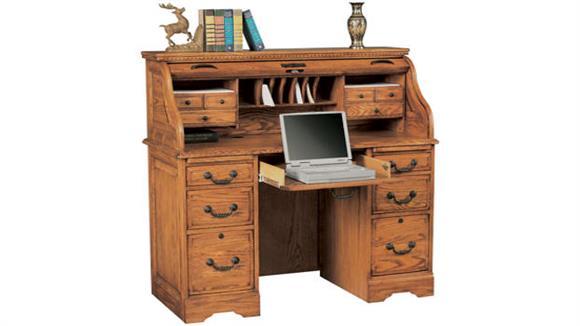 "Roll Top Desks Wilshire Furniture 48""W x 23""D x 46""H Solid Wood Roll Top Desk"