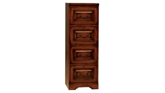"File Cabinets Vertical Wilshire Furniture 18""W x 22""D x 54""H  Solid Wood 4 Drawer Vertical File"