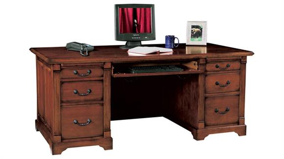 "Executive Desks Wilshire Furniture 72.5""W x 35.5""D x 31""H  Solid Wood Executive Desk"