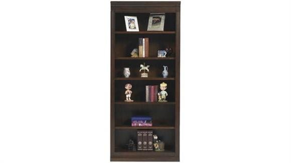 "Bookcases Wilshire Furniture 32""W x 15""D x 78.5""H Classic Cherry Open Bookcase"
