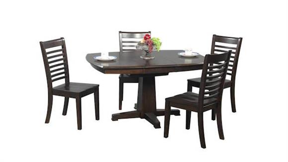 Dining Tables & Sets Wilshire Furniture Santa Fe 5 Piece Pedestal Dining Set