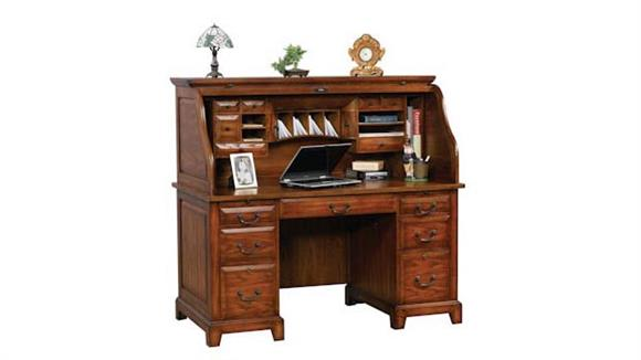 "Roll Top Desks Wilshire Furniture 57""W x 29""D x 53""H  Roll Top Desk"