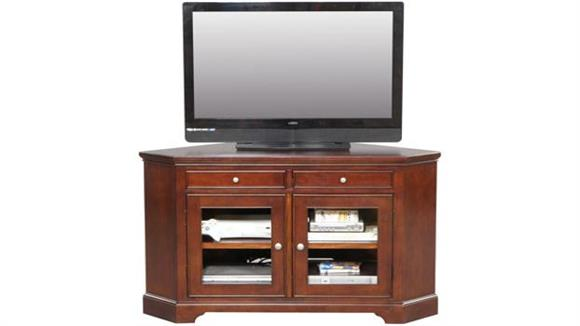 "TV Stands Wilshire Furniture Solid Wood 55"" Corner TV Stand"