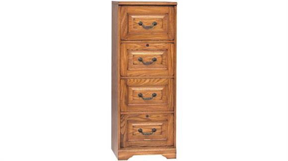 "File Cabinets Vertical Wilshire Furniture 18.5""W x 22""D x 53""H  Solid Wood 4 Drawer Vertical File"