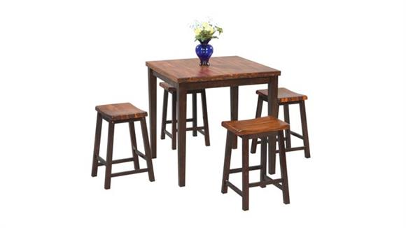 Dining Tables & Sets Wilshire Furniture 5 Piece Pub Height Dining Set