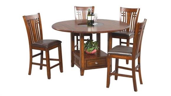 Dining Tables & Sets Wilshire Furniture Zahara 5 Piece Dining Set