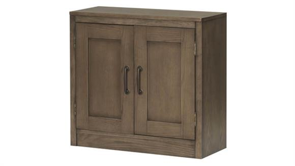 """Bookcases Wilshire Furniture 32""""W x 30""""H Door Bookcase - Assembled"""