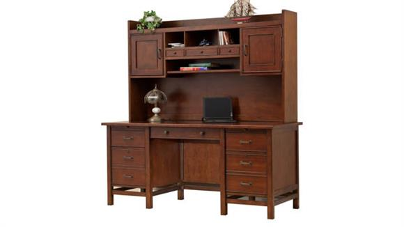 "Executive Desks Wilshire Furniture 66""W Executive Desk with Hutch"