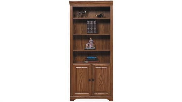 "Bookcases Wilshire Furniture 32""W x 15""D x 79""H  Bookcase with Doors"