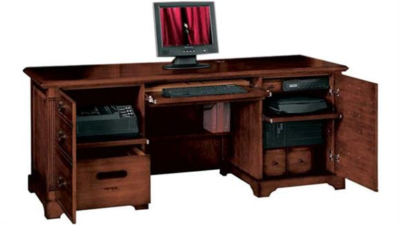"""Office Credenzas Wilshire Furniture 72.5""""W x 24""""D x 31""""H  Solid Wood Credenza"""