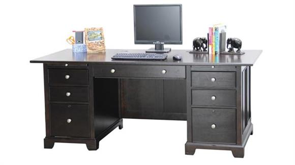 "Executive Desks Wilshire Furniture 72""W x 36""D x 30""H Executive Desk"