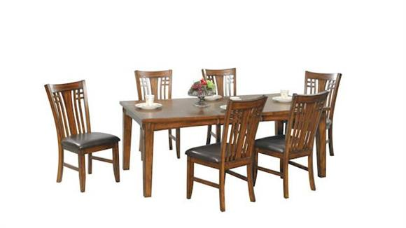 Dining Tables & Sets Wilshire Furniture Zahara 7 Piece Dining Set