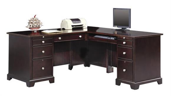"L Shaped Desks Wilshire Furniture 66""W x 69""D x 30""H  Wood L Shaped Desk"