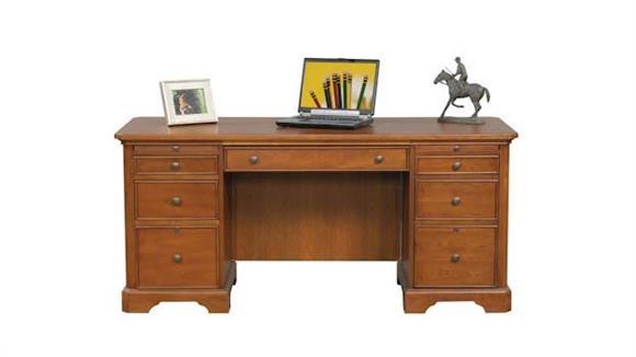 "Executive Desks Wilshire Furniture 66""W x 27""D x 30""H  Flat Top Desk"