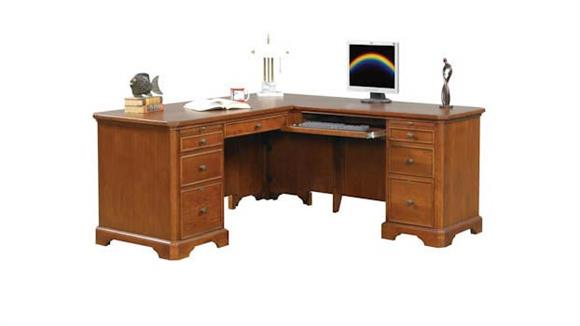 "L Shaped Desks Wilshire Furniture 66""W x 69""D x 30""H  L Shaped Desk"