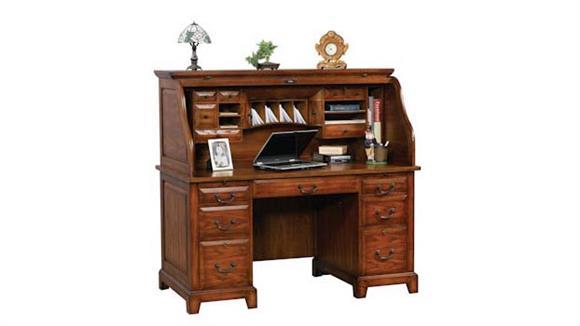 "Roll Top Desks Wilshire Furniture 57""W x 29""D x 53""H  Roll Top Desk"