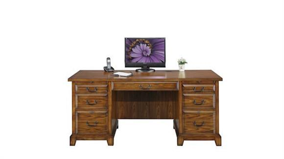 "Executive Desks Wilshire Furniture 66""W x 27""D x 30.5""H  Flat Top Desk"