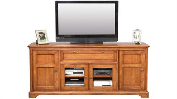 "TV Stands Wilshire Furniture Solid Wood 74"" TV Stand"