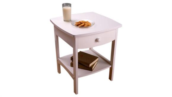 Night Stands Winsome White Night Stand with One Drawer