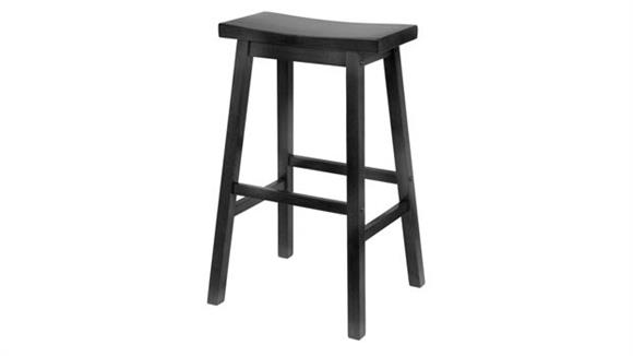 "Bar Stools Winsome Saddle Seat 29"" Black Stool"