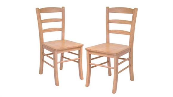 Dining Chairs Winsome Ladder Back Chair - Set of 2