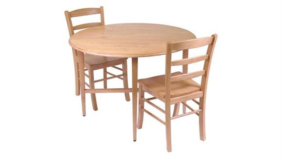 Dining Tables & Sets Winsome Drop Leaf Table with 2 Ladder Back Chairs