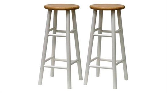 """Bar Stools Winsome Beveled Seat 29"""" Stool, Set of 2"""