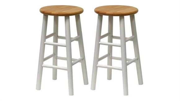"""Counter Stools Winsome Beveled Seat 24"""" Stool - Set of 2"""