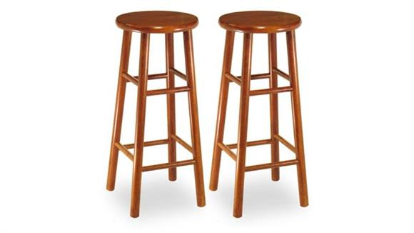 Bar Stools Winsome Beveled Seat 30in Stool - Set of 2