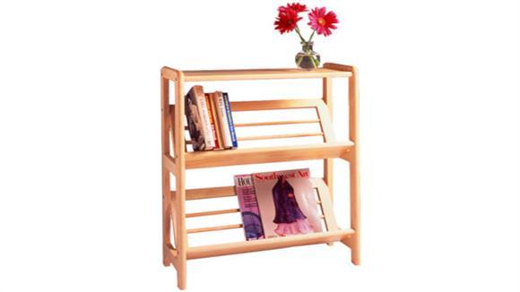 Bookcases Winsome Bookshelf with Slanted Shelf