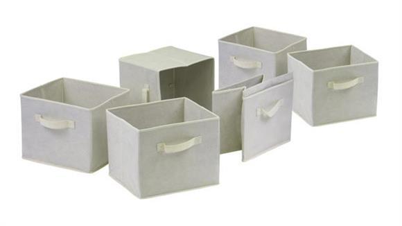 Storage Cubes & Cubbies Winsome Capri Set of 6 Foldable Beige Fabric Baskets