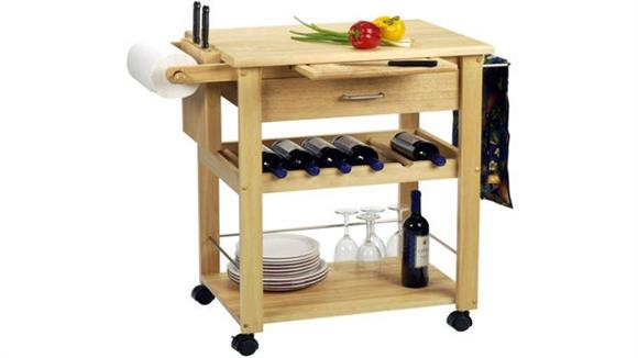 Kitchen Carts Winsome Mobile Kitchen Cart with Wine Storage