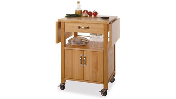 Kitchen Carts Winsome Mobile Kitchen Cart with Drop Leaf