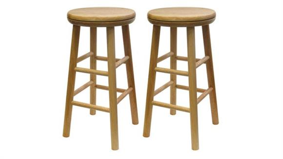 """Counter Stools Winsome 24"""" Swivel Counter Stool - Set of 2"""