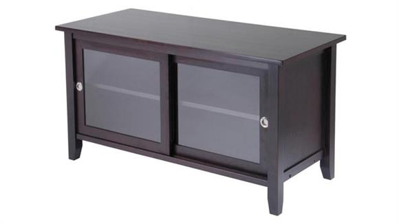 TV Stands Winsome TV Media Stand with Sliding Doors