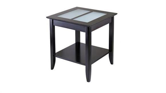 End Tables Winsome Syrah End Table with Frosted Glass Top