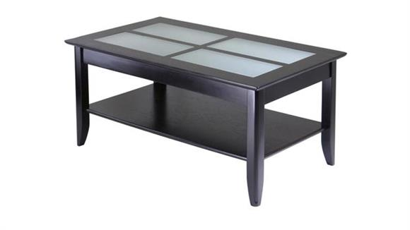 Coffee Tables Winsome Syrah Coffee Table with Frosted Glass Top