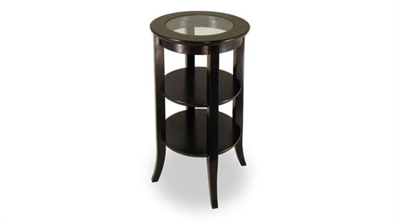 Occasional Tables Winsome Genoa Accent Table with Glass Top