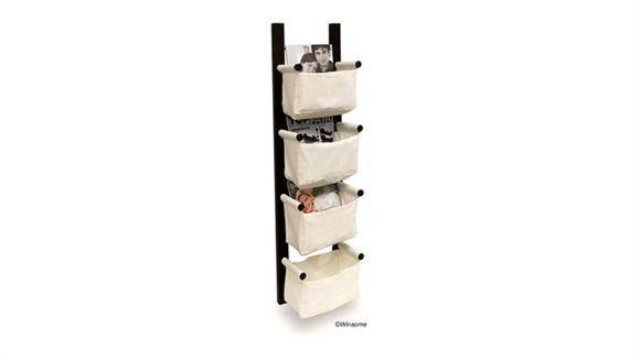 Magazine & Literature Storage Winsome Storage/Magazine Rack with 4 Canvas Baskets