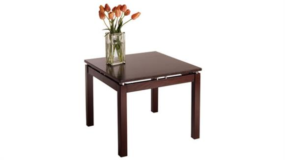 End Tables Winsome Linea End Table with Chrome Accents
