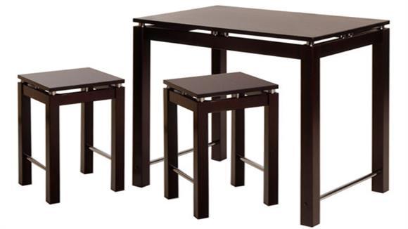 Pub & Bistro Tables Winsome 3 Piece Pub Kitchen Set